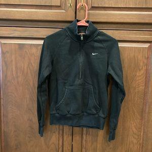 Black Nike 1/2 zip with kangaroo pocket sz M